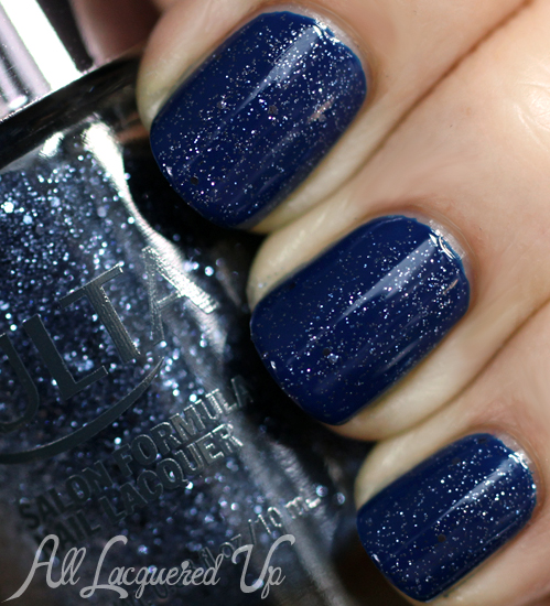 ULTA Indigo-go Girl Glitter over Bobbi Brown Navy