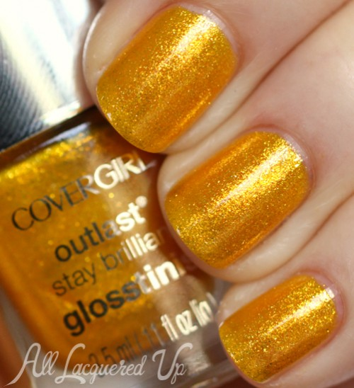 COVERGIRL Sulfur Blaze nail polish from the Capitol Collection for Catching Fire