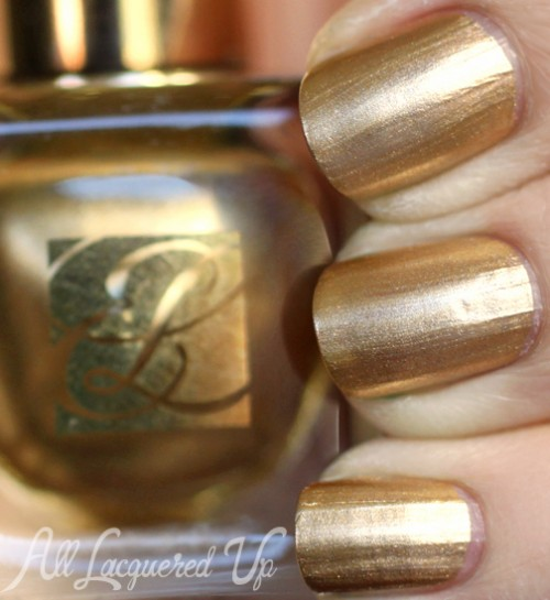 Estee Lauder Brushed Gold metallic nail polish