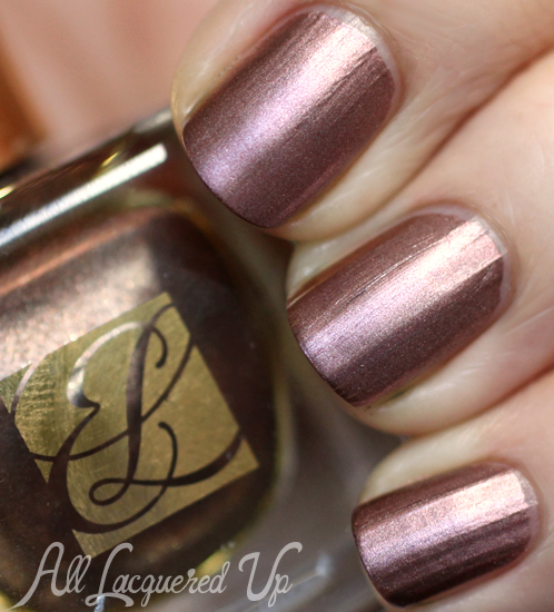 Estee Lauder Chocolate Foil metallic nail polish
