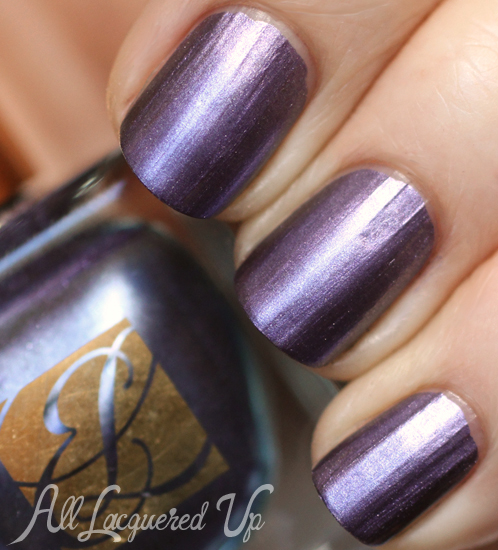 Estee Lauder Chrome Violet metallic nail polish