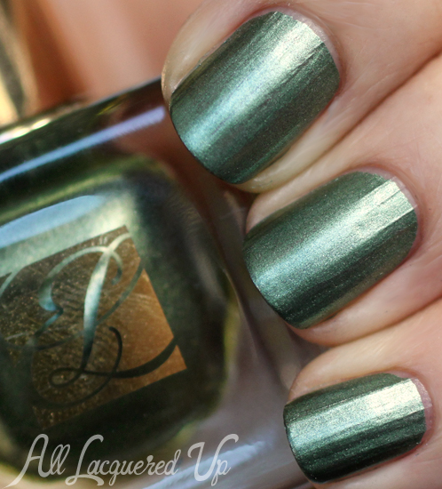 Estee Lauder Metallic Green nail polish swatch