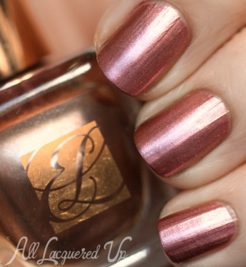 Estee Lauder Rose Gold metallic nail polish