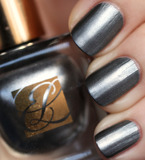 Estee Lauder Smoked Chrome metallic nail polish