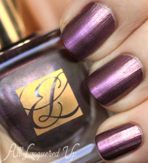 Estee Lauder Steel Orchid metallic nail polish