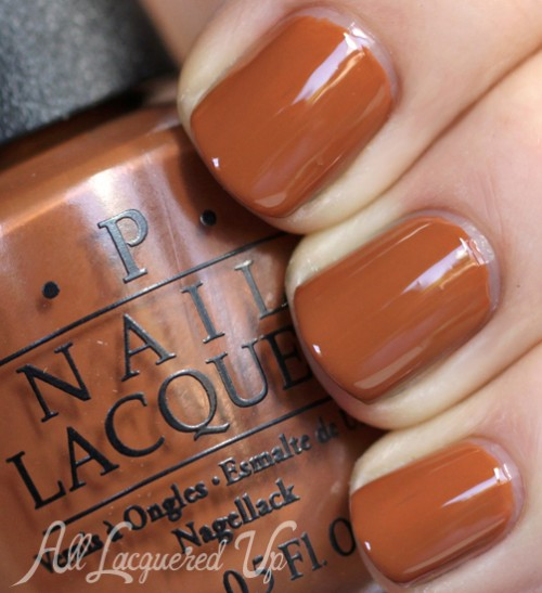 OPI A-Piers To Be Tan nail polish swatch