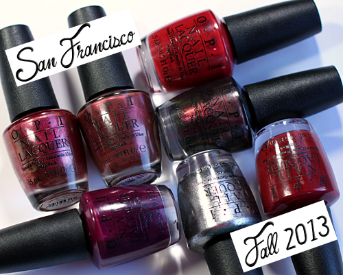 OPI San Francisco for Fall 2013 Silver & Reds Nail Polish Swatches & Review