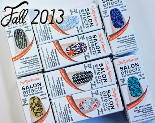 New Sally Hansen Salon Effects Real Nail Polish Strips for Fall 2013