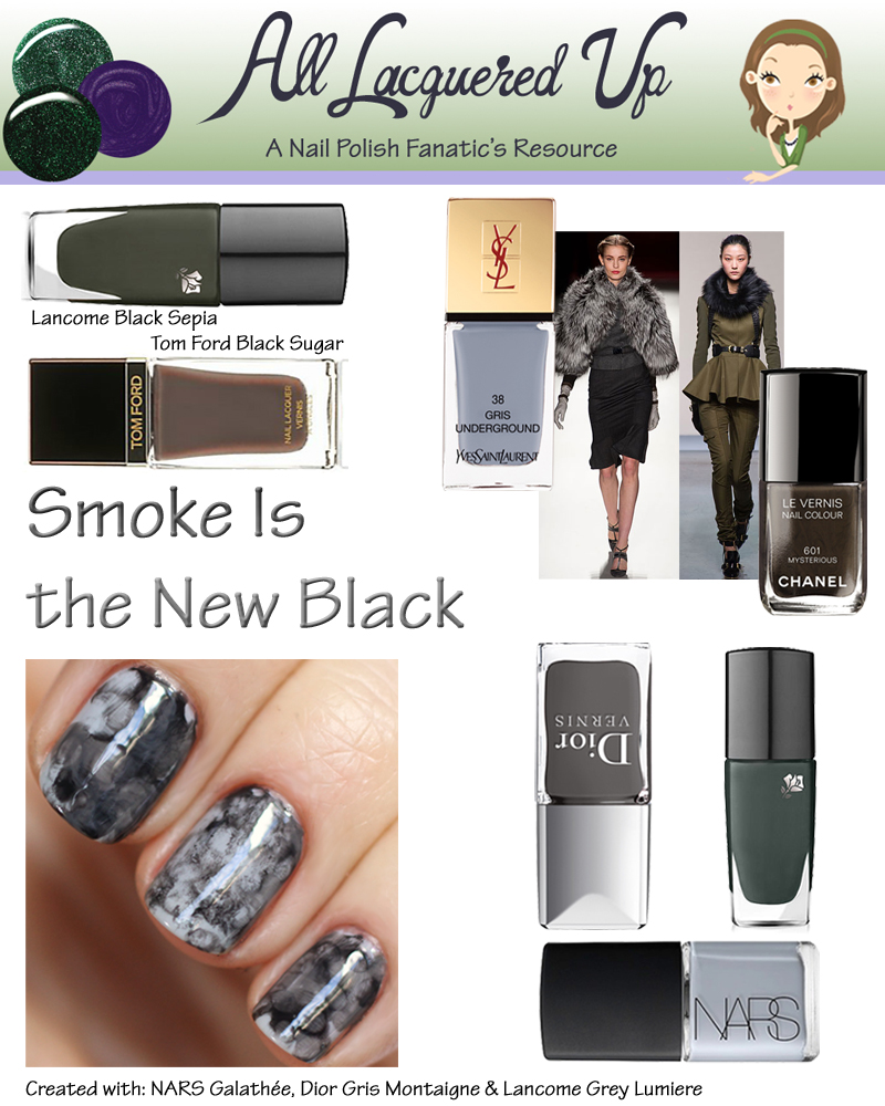 Fall 2013 Nail Trend - Smoke Is the New Black
