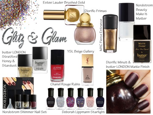 Fall and Holiday 2013 Nail Trend - Glitter and Metallic