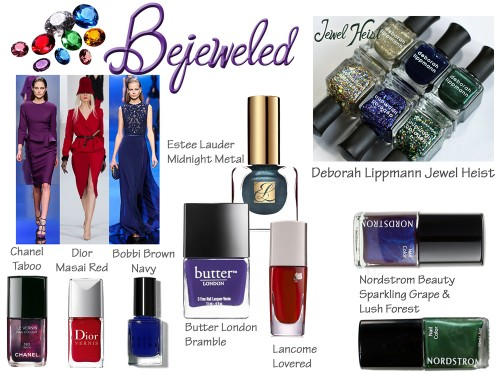 Fall and Holiday 2013 Nail Trend - Jewel Tones