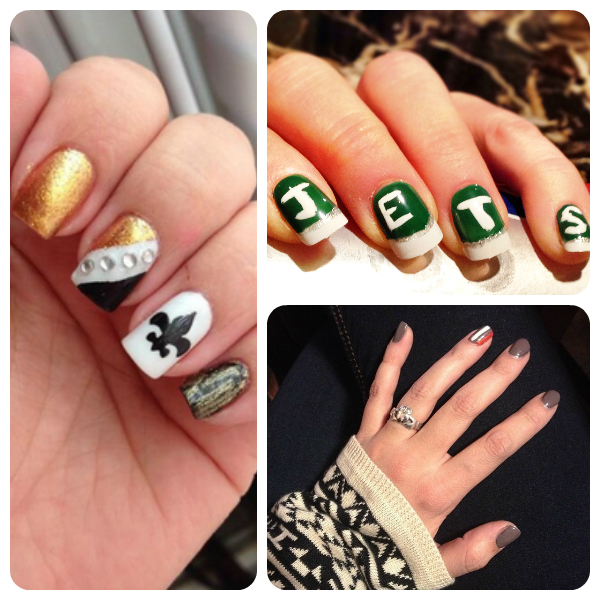 COVERGIRL Nailgating Fanicures Jets Saints Browns NFL