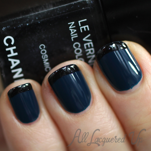 Chanel Magic Cosmic French Manicure nail art