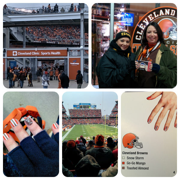 Cleveland Browns game with COVERGIRL #Nailgating #Fanicures