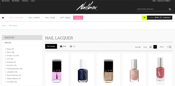 Nailbox online nail polish shopping merchant