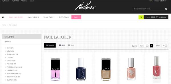 Nailbox online nail polish shopping merchant