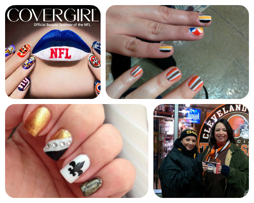 #Nailgating with COVERGIRL at the Cleveland Browns game