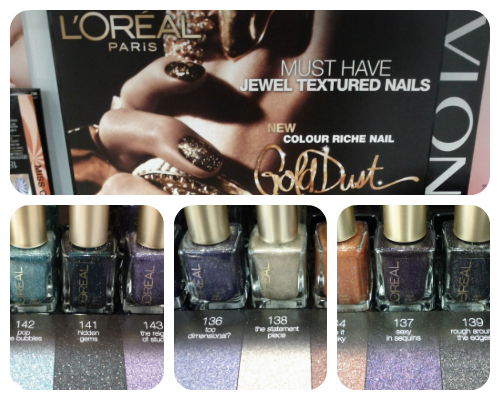 L'Oreal Paris Gold Dust textured nail polish