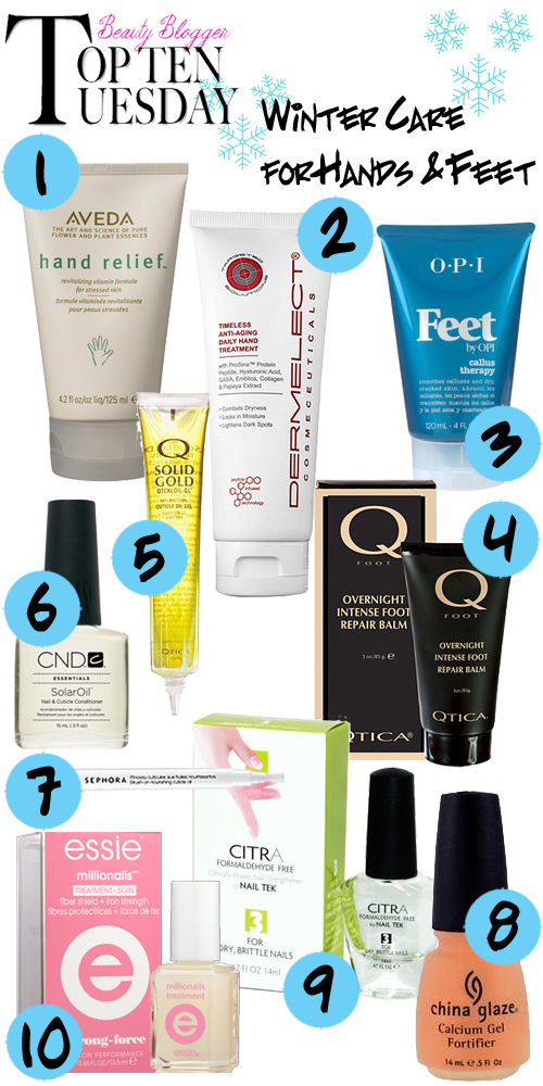 Top Ten Moisturizers and Treatments for Hands, Nails, Feet and Cuticles