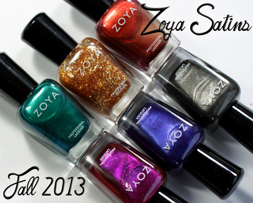Zoya Satins Fall 2013 nail polish collection