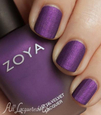 Zoya MatteVelvet Savita nail polish