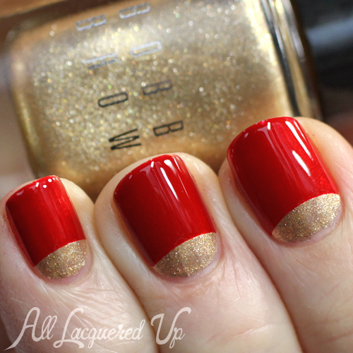 Moon manicure nail art using Bobbi Brown Holiday 2013