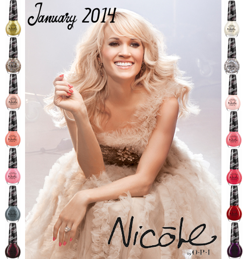 Carrie Underwood nail polish collection for Nicole by OPI