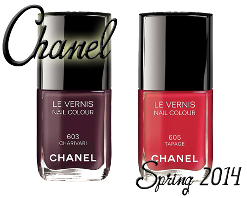 Chanel Spring 2014 nail polish, Charivari and Tapage from Notes de Printemps