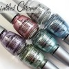 China Glaze Crinkled Chrome Texture Nail Polish Swatches & Review