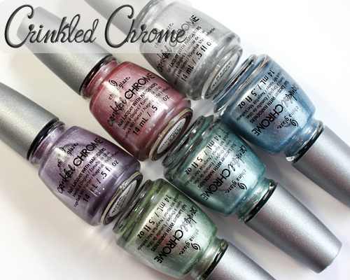 China Glaze Crinkled Chrome texture nail polish