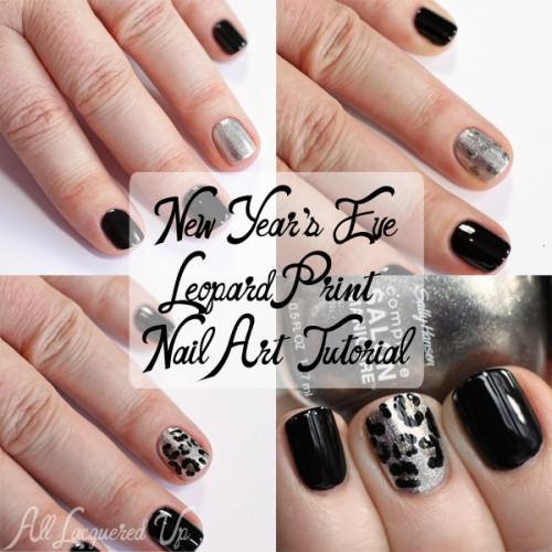 New Year\'s Eve Metallic Leopard Print Nail Art Tutorial : All ...
