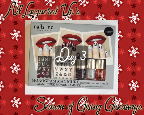 Nails Inc Monogram Manicure Giveaway