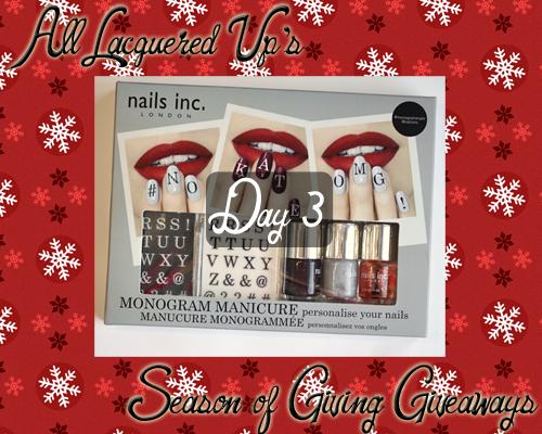 Nails Inc Monogram Manicure Giveaway