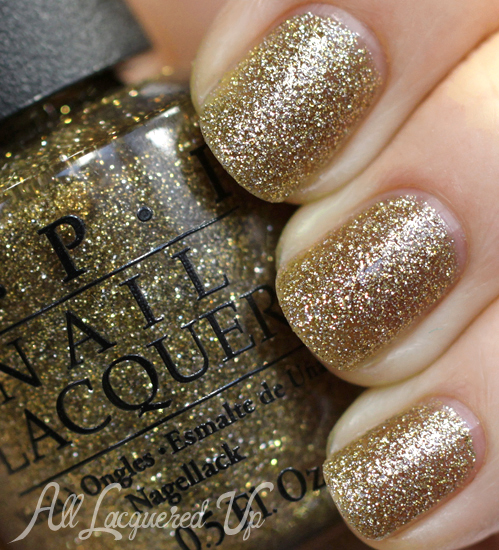 OPI All Sparkly Gold from Mariah Carey Holiday 2013