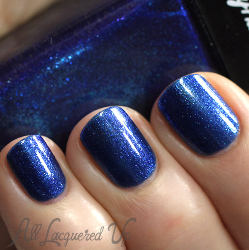 Sally Hansen Wavy Blue Triple Shine nail polish