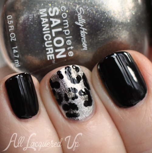 Leopard Print Nail Art with Sally Hansen nail polish