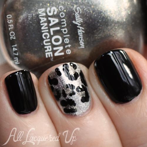 Leopard Print Nail Art with Sally Hansen nail polish