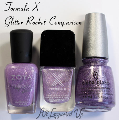 Formula X for Sephora Glitter Rocket Comparisons Dupes