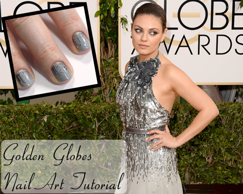 Golden Globes Fashion Nail Art Tutorial