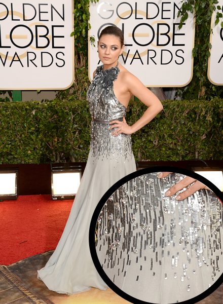 Mila Kunis in Gucci Premiere at the 2014 Golden Globes