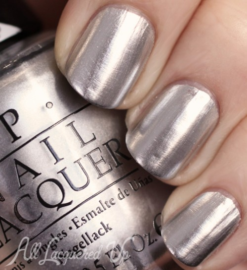 OPI Push and Shove metallic chrome from Gwen Stefani