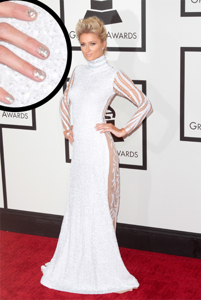 Paris-Hilton-grammys-manicure-nails