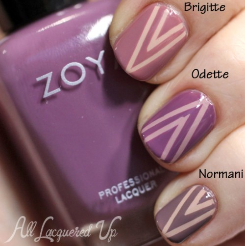 Zoya Naturel Nail Art - Tape Manicure