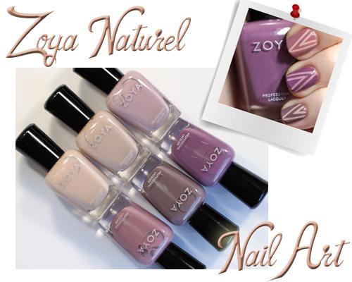 Zoya Naturel Tape Manicure Nail Art
