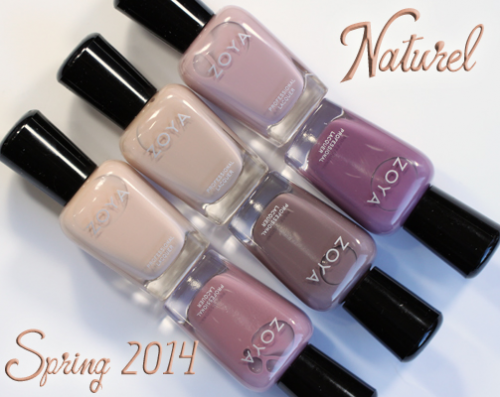 Zoya Naturel neutral nail polish collection
