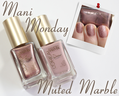 #ManiMonday - Muted Marble Nail Art with L'Oreal Collection Privee
