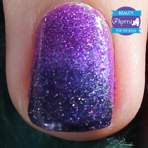 Purple Ombre Gradient Nail Art