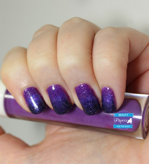 Purple Ombre Gradient Nail ArtPurple Ombre Gradient Nail Art