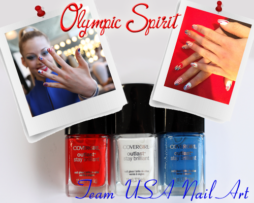 Team USA Nail Art for the Sochi Olympics
