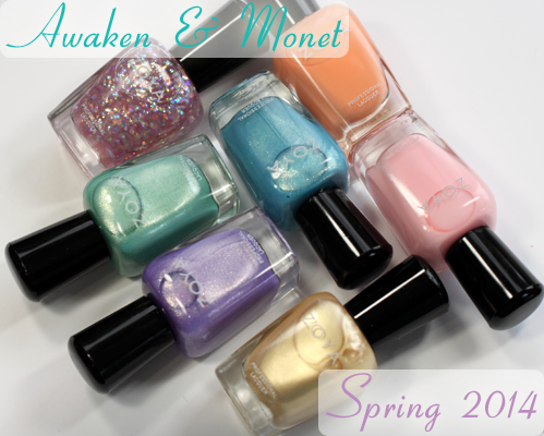 Zoya Awaken and Monet for Spring 2014